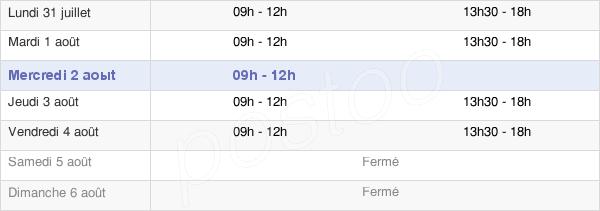horaires d'ouverture de la Mairie De Saint-Molf