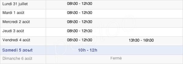 horaires d'ouverture de la Mairie De Riaillé