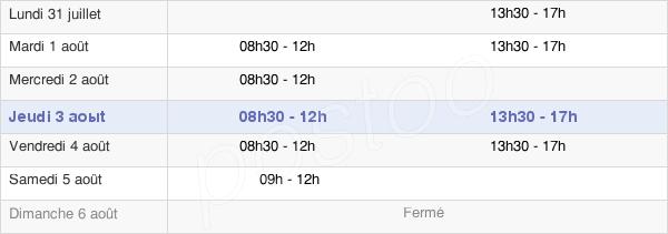 horaires d'ouverture de la Mairie De La Chevallerais