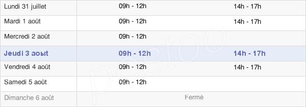 horaires d'ouverture de la Mairie De Saint-Hilaire-De-Chaléons