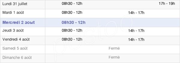 horaires d'ouverture de la Mairie De La Chapelle-Heulin