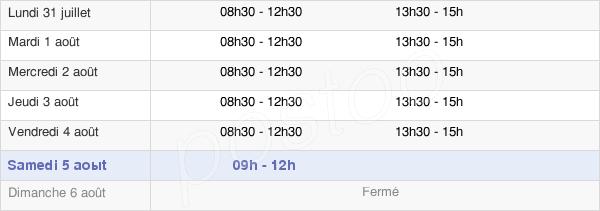 horaires d'ouverture de la Mairie De Sainte-Reine-De-Bretagne