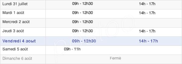 horaires d'ouverture de la Mairie De Saint Mars La Jaille