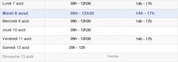 horaires d'ouverture de la Mairie De Saint-Julien-De-Concelles