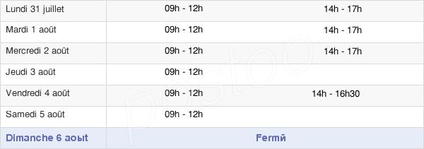 horaires d'ouverture de la Mairie De Sainte-Anne-Sur-Brivet