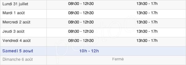 horaires d'ouverture de la Mairie De Pontchâteau