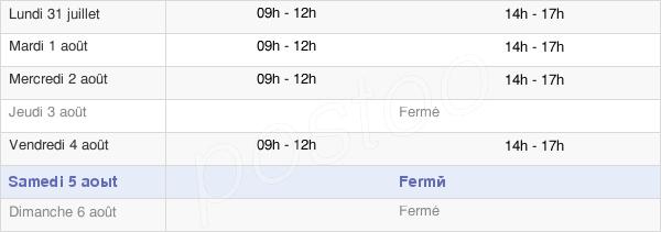 horaires d'ouverture de la Mairie De Saint-Julien-De-Vouvantes