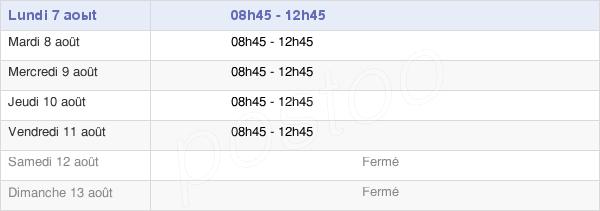 horaires d'ouverture de la Mairie De Puceul