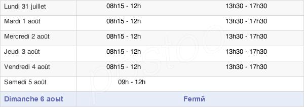 horaires d'ouverture de la Mairie De Trignac