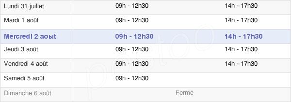 horaires d'ouverture de la Mairie De Sucé-Sur-Erdre