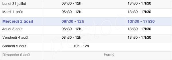 horaires d'ouverture de la Mairie De La Chevrolière