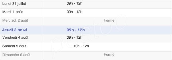 horaires d'ouverture de la Mairie De Pannecé