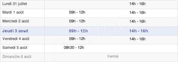 horaires d'ouverture de la Mairie D'Oudon