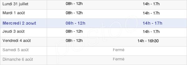 horaires d'ouverture de la Mairie De La Rochefoucauld