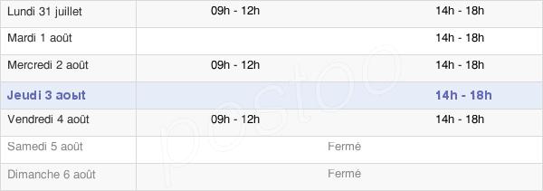 horaires d'ouverture de la Mairie De Sireuil