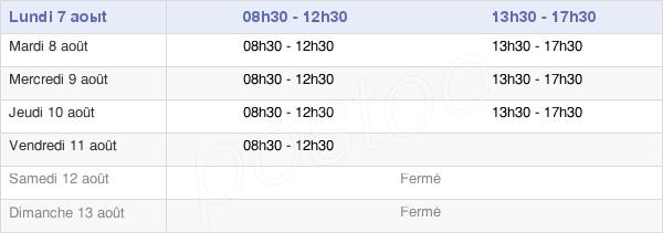 horaires d'ouverture de la Mairie De Linars