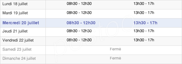 horaires d'ouverture de la Mairie D'Angoulême