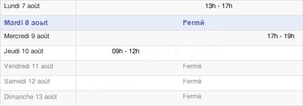horaires d'ouverture de la Mairie De Saint Médard De Barbezieux