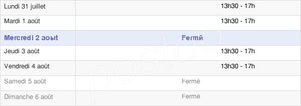 horaires d'ouverture de la Mairie De Fouqueure