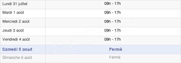horaires d'ouverture de la Mairie De Soyaux