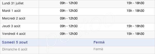 horaires d'ouverture de la Mairie De Bréville