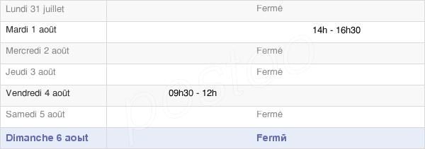 horaires d'ouverture de la Mairie De La Magdeleine