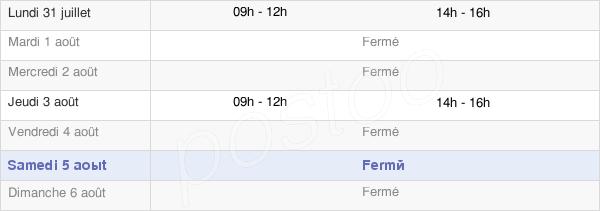 horaires d'ouverture de la Mairie De Fontclaireau