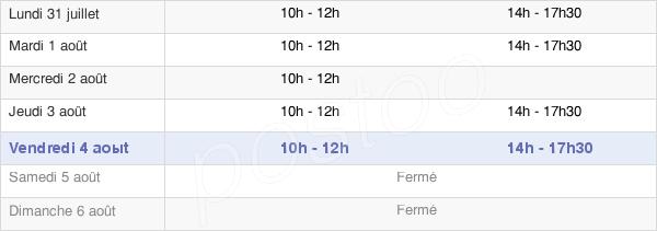 horaires d'ouverture de la Mairie De Saint-Brice