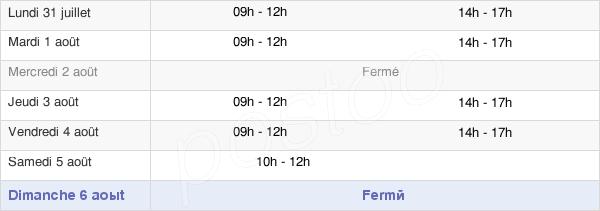 horaires d'ouverture de la Mairie D'Oradour-Fanais