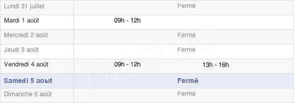 horaires d'ouverture de la Mairie De Bioussac