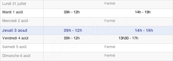 horaires d'ouverture de la Mairie D'Angeac Champagne