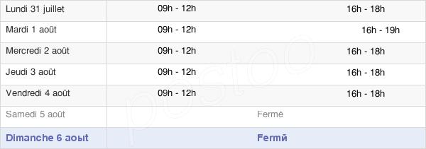 horaires d'ouverture de la Mairie De Saint-Léger-Sur-Dheune