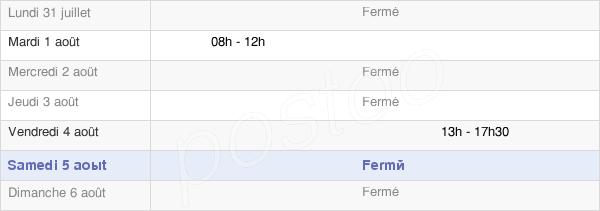 horaires d'ouverture de la Mairie De Saint-Gervais-Sur-Couches