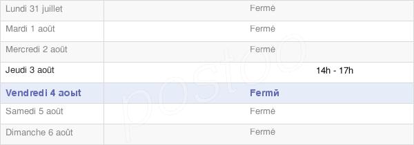 horaires d'ouverture de la Mairie De Vérissey