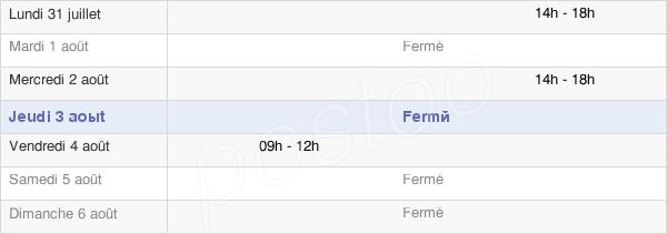 horaires d'ouverture de la Mairie De Chenay-Le-Châtel