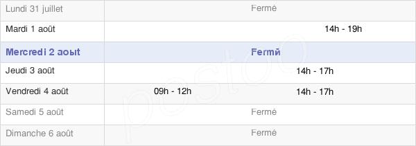 horaires d'ouverture de la Mairie De Fleurville