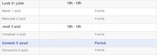 horaires d'ouverture de la Mairie De La Vineuse