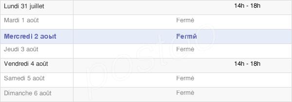 horaires d'ouverture de la Mairie De Saint-Laurent-En-Brionnais