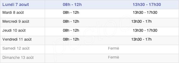 horaires d'ouverture de la Mairie De Chauffailles