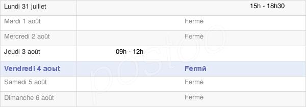 horaires d'ouverture de la Mairie De La Genête