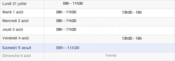 horaires d'ouverture de la Mairie De Saint-Christophe-En-Bresse