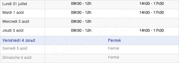 horaires d'ouverture de la Mairie De Toulon-Sur-Arroux