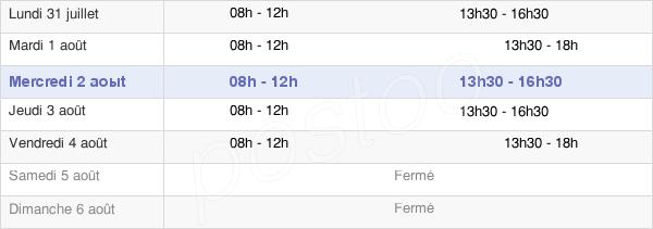 horaires d'ouverture de la Mairie De Buxy