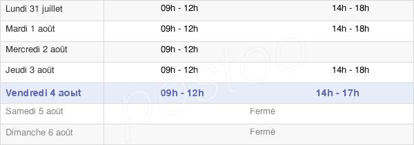 horaires d'ouverture de la Mairie De Rigny-Sur-Arroux