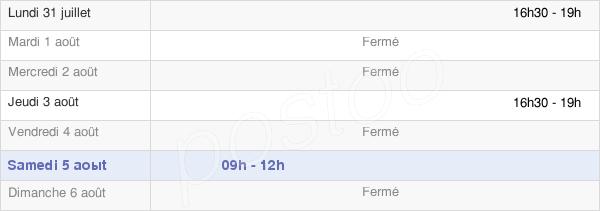 horaires d'ouverture de la Mairie De Moroges