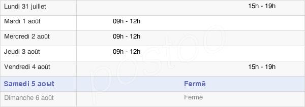 horaires d'ouverture de la Mairie D'Allerey-Sur-Saône