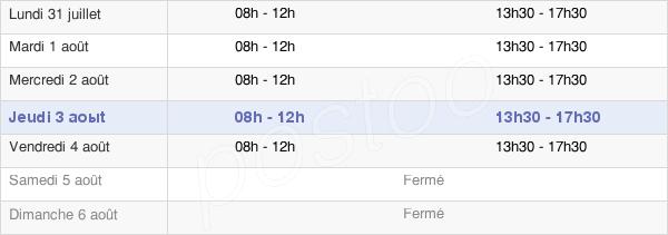 horaires d'ouverture de la Mairie De Chagny