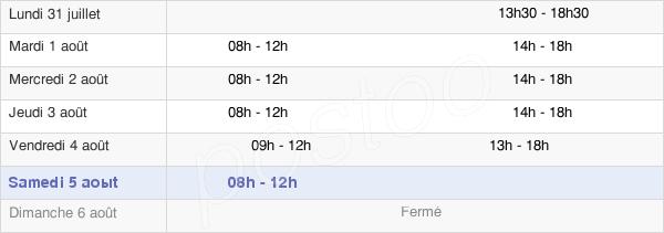 horaires d'ouverture de la Mairie De Boyer