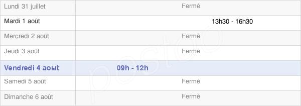 horaires d'ouverture de la Mairie De Cortambert