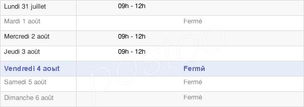 horaires d'ouverture de la Mairie Du Rousset